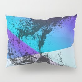 Ink Splat and Shapes Aqua and Purple Pillow Sham