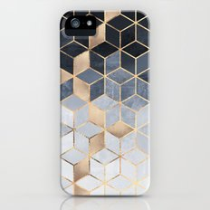 Soft Blue Gradient Cubes Slim Case iPhone (5, 5s)