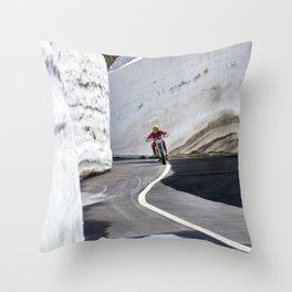Café racer Throw Pillow