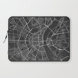 Cologne Map, Germany - Gray Laptop Sleeve