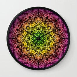 Mandala Rainbow Square Wall Clock
