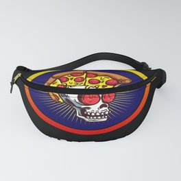 Funny Saying Pizza Or Death Punk Skull Fanny Pack