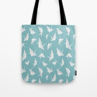 origami Tote Bags featuring Origami by Albardado