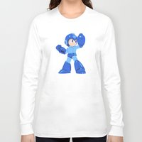 megaman Long Sleeve T-shirts featuring Megaman by Megan Yiu