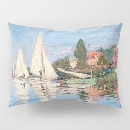 Claude Monet - Regattas at Argenteuil Pillow Sham