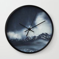 everlasting mountains Wall Clock