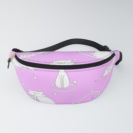 French Cats with Dots - Pink Fanny Pack