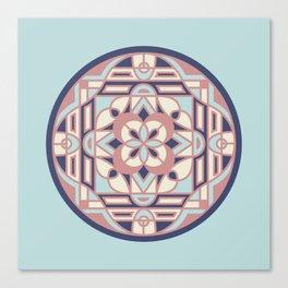Ocean Sunset Circle Canvas Print