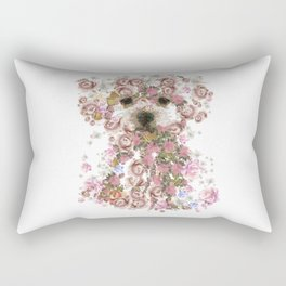 Vintage doggy Bichon frise.DISCOVER Rectangular Pillow