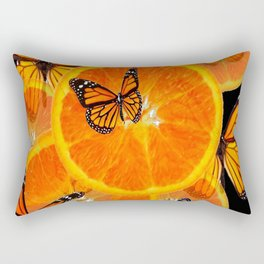 CONTEMPORARY MONARCHS & ORANGES ART Rectangular Pillow