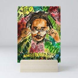 poppy,dancehall,reggae,music,lyrics,poster,jamaica,unruly,wall art Mini Art Print
