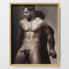 Photograph Erotic Nude Male Serving Tray