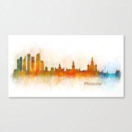 Moscow City Skyline art HQ v3 Canvas Print