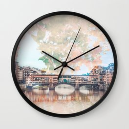 Florence in Bloom Wall Clock
