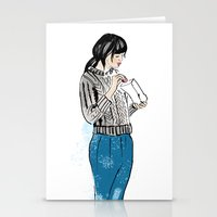 macaron Stationery Cards featuring Macaron by Iva Zugic Art