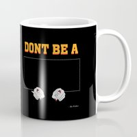 mia wallace Mugs featuring Don't Be a Square / Mia Wallace by Woah Jonny