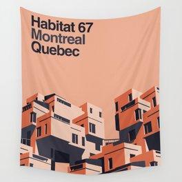 Habitat 67 retro poster Wall Tapestry