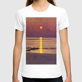 Sunset at the Beach landscape painting by Félix Vallotton T-shirt