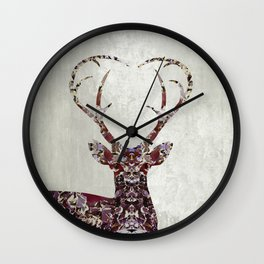 My Deer Love Wall Clock