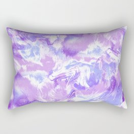 Marble Mist Lilac Rectangular Pillow