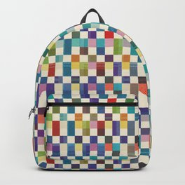 Fair Isle Woolen Quilt Blue Backpack