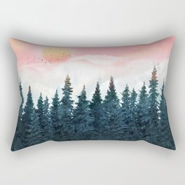 Forest Under the Sunset Rectangular Pillow
