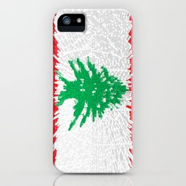 Extruded flag of Lebanon iPhone Case