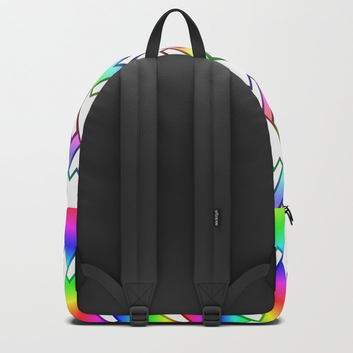 Colorful mountain tops Backpack