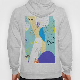 Abstract colorful shapes cool modern composition Hoody