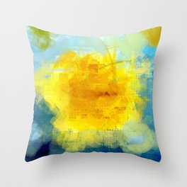Sun And Flowers Adorn We Throw Pillow
