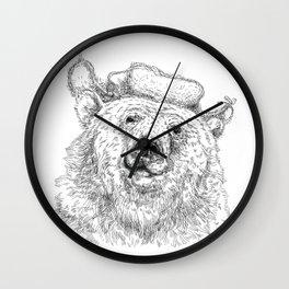 russian bear Wall Clock