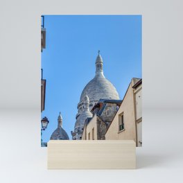 Sacre Coeur from a narrow street of Montmartre in Paris Mini Art Print