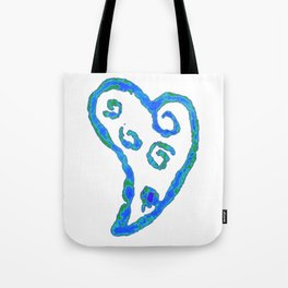 Blue Jade Love Tote Bag