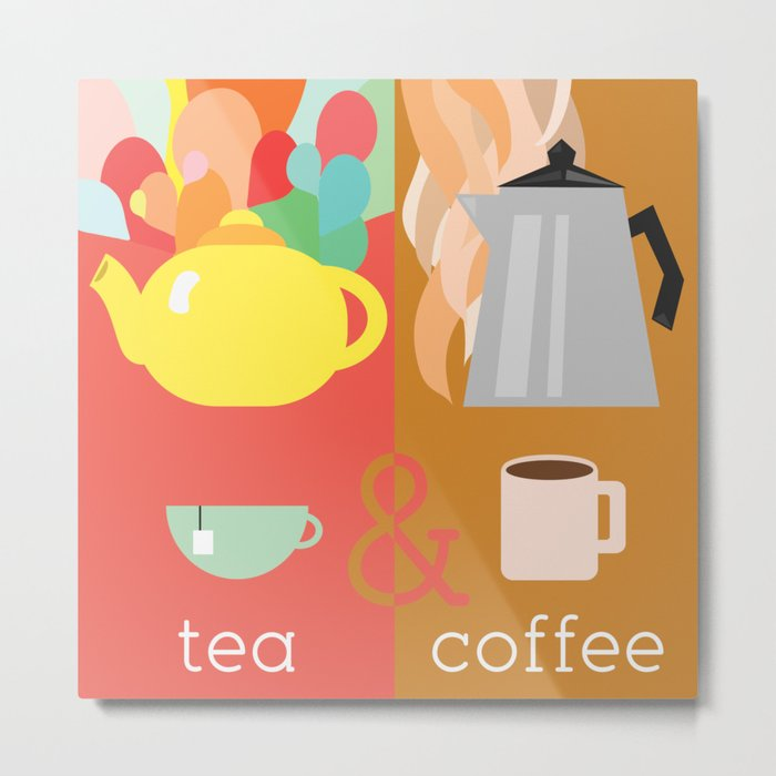 Tea&Coffee Metal Print