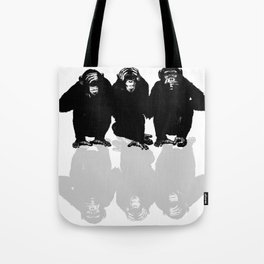 3 Monkeys Tote Bag