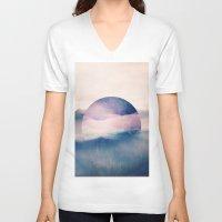 sleep V-neck T-shirts featuring sleep. by Monika Traikov