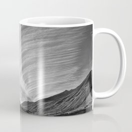 Stratus Clouds, Dawn in the Mountains black and white photograph / photography Coffee Mug