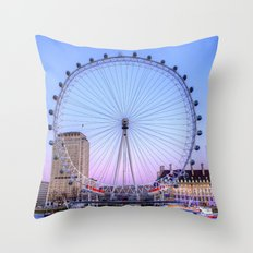 The London Eye, London Throw Pillow