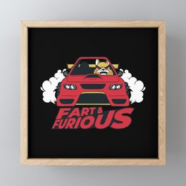 Fart & Furious Framed Mini Art Print