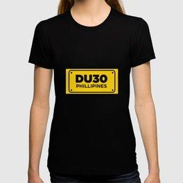 DU30 Philippines Yellow License Plate Duterte Pride Cool Design Gift T-shirt