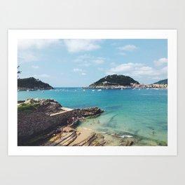 Summer in Donosita San Sebastian Spain Beach 2 Art Print