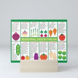 UK Seasonal Vegetables Chart Mini Art Print