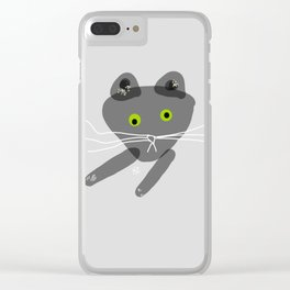 Mr Pepe le Quirky Cat Clear iPhone Case
