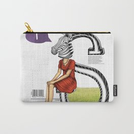 Zebra woman. Carry-All Pouch
