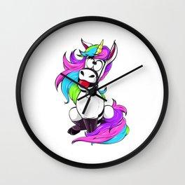 Kinky Unicorn Wall Clock
