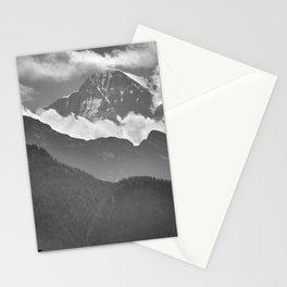 Lauterbrunnen Valley. Jungfrau Mountauin. 4.158 Meters. Swithzerland Alps Stationery Cards