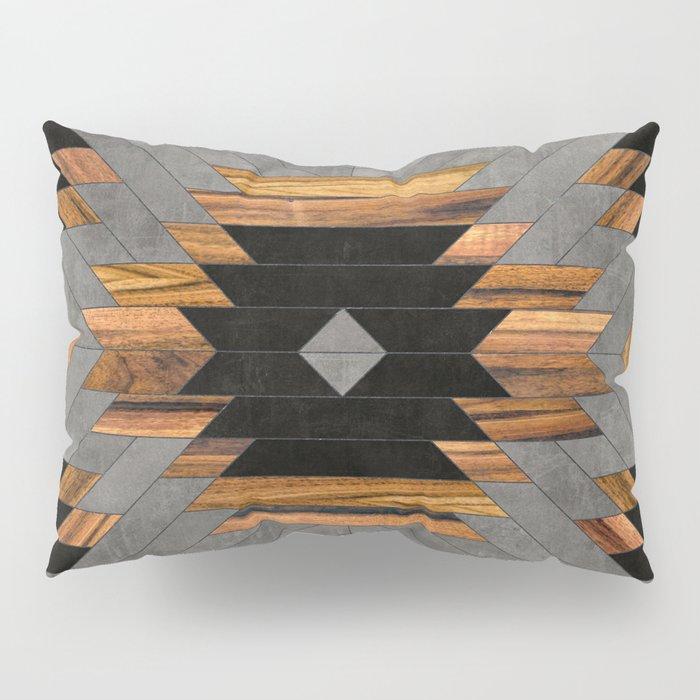Urban Tribal Pattern No.6 - Aztec - Concrete and Wood Pillow Sham