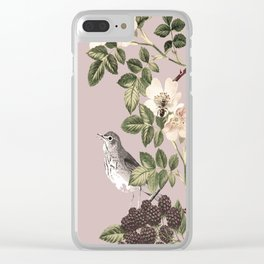 Birds and the Bees Pink Berry Clear iPhone Case