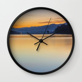 Orange sunrise Wall Clock