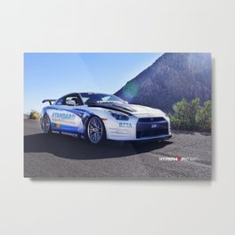 """Show Stopper"" 2014 Nissan GT-R Straight out of SEMA Metal Print"